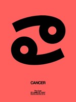 Cancer Zodiac Sign Black Fine-Art Print