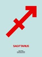 Sagittarius Zodiac Sign Red Fine-Art Print