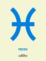 Pisces Zodiac Sign Blue Fine-Art Print