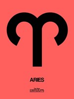 Aries Zodiac Sign Black Fine-Art Print