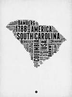 South Carolina Word Cloud 1 Fine-Art Print