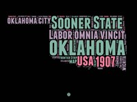 Oklahoma Word Cloud 1 Fine-Art Print