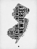 New Jersey Word Cloud 2 Fine-Art Print