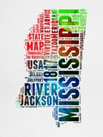 Mississippi Watercolor Word Cloud Fine-Art Print