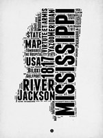 Mississippi Word Cloud 2 Fine-Art Print