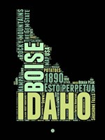Idaho Word Cloud 1 Fine-Art Print