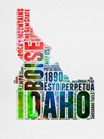 Idaho Watercolor Word Cloud Fine-Art Print