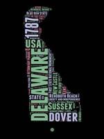 Delaware Word Cloud 1 Fine-Art Print