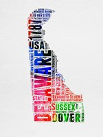Delaware Watercolor Word Cloud Fine-Art Print