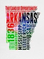 Arkansas Watercolor Word Cloud Fine-Art Print