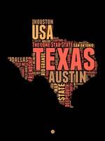 Texas Word Cloud 1 Fine-Art Print