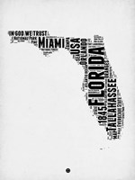 Florida Word Cloud 2 Fine-Art Print