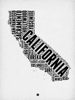 California Word Cloud 2 Fine-Art Print