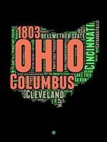 Ohio Word Cloud 1 Fine-Art Print