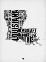 Louisiana Word Cloud 2 Fine-Art Print