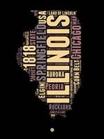 Illinois Word Cloud 1 Fine-Art Print