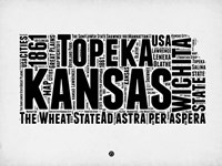 Kansas Word Cloud 2 Fine-Art Print