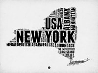 New York Word Cloud 2 Fine-Art Print