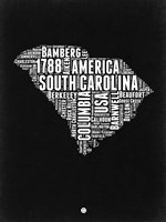 South Carolina Black and White Map Fine-Art Print