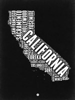 California Black and White Map Fine-Art Print