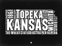 Kansas Black and White Map Fine-Art Print