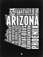 Arizona Black and White Map Fine-Art Print