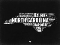 North Carolina Black and White Map Fine-Art Print