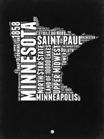 Minnesota Black and White Map Fine-Art Print