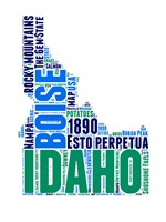Idaho Word Cloud Map Fine-Art Print
