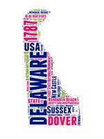 Delaware Word Cloud Map Fine-Art Print