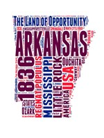 Arkansas Word Cloud Map Fine-Art Print