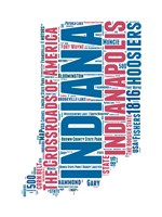 Indiana Word Cloud Map Fine-Art Print