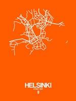 Helsinki Street Map Orange Fine-Art Print