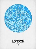 London Street Map Blue Fine-Art Print