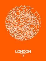 London Street Map Orange Fine-Art Print