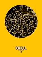 Seoul Street Map Yellow Fine-Art Print