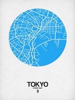 Tokyo Street Map Blue Fine-Art Print