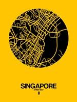 Singapore Street Map Yellow Fine-Art Print