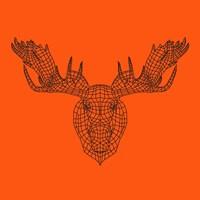 Moose Head Orange Mesh Fine-Art Print