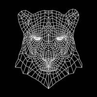 Panther Head Black Mesh Fine-Art Print