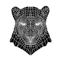 Panther Head Mesh Fine-Art Print