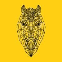 Horse Head Yellow Mesh Fine-Art Print