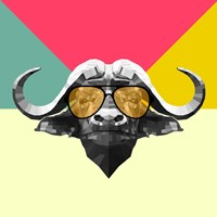 Party Buffalo in Glasses Fine-Art Print