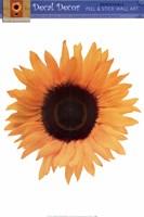 Single Sunflower Wall Decal