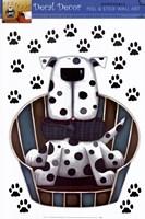 Polka Dot Pup Wall Decal