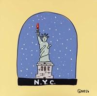 N.Y.C. Snow Globe Fine-Art Print