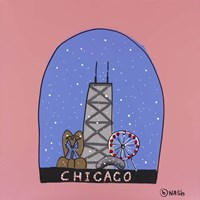 Chicago Snow Globe Fine-Art Print