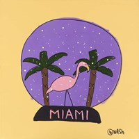 Miami Snow Globe Fine-Art Print