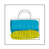 Blue and Green Purse Fine-Art Print