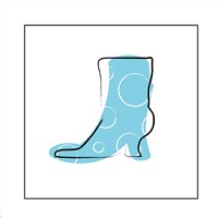 Blue Boot Fine-Art Print